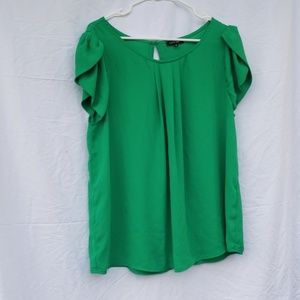 Papermoon green capsleeve blouse 1x